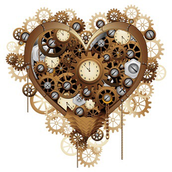Steampunk Heart Love